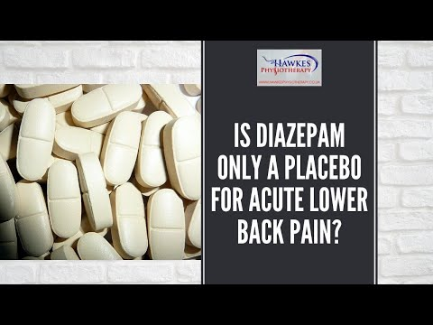 Is Diazepam only a placebo for acute lower back pain?