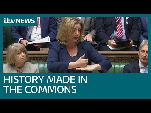 Penny Mordaunt becomes the first minister to use sign language in the Commons | ITV News