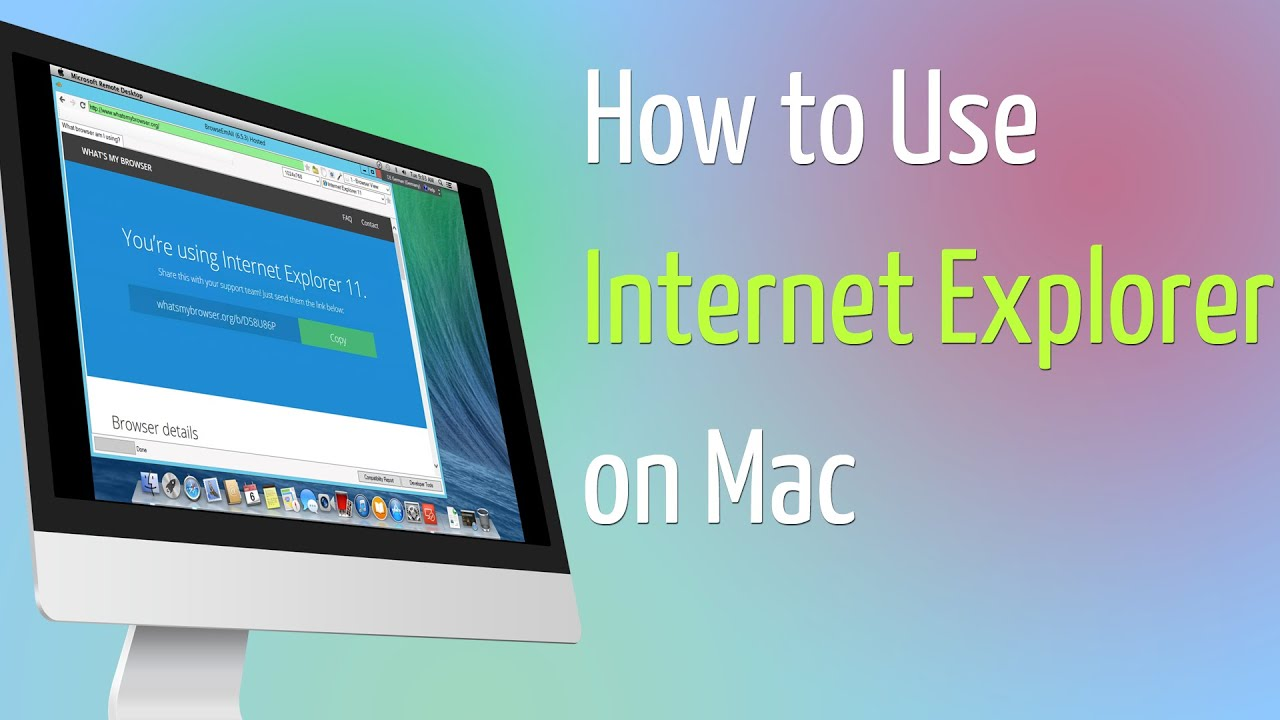 how to run ie on mac
