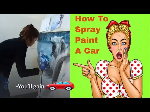 Learn How To Spray Paint A Car. Auto body repair and diy car spray painting video
