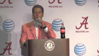 Nick Saban discusses Alabama