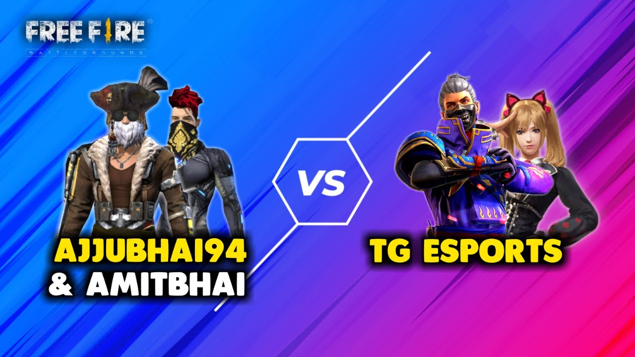 Ajjubhai94 and Amitbhai vs Total Gaming eSports Must Watch Gameplay - Garena Free Fire