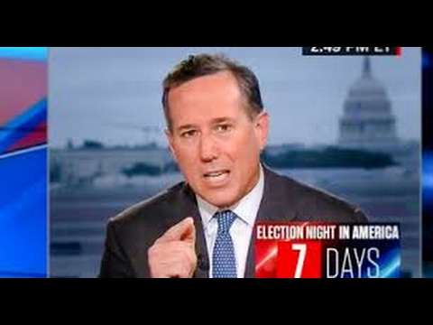 Rick Santorum defends 'emotional' snowflake President for not knowing facts