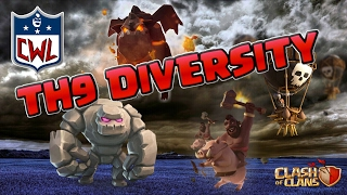 CLASH OF CLANS - CWL RED ONSLAUGHT vs THE O.S.F. | TOP TH9 ATTACKS | CoC
