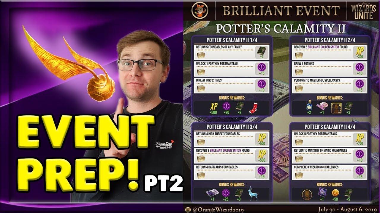 HP CALAMITY BRILLIANT EVENT PT 2! - FULL GUIDE - HARRY POTTER: WIZARDS UNITE