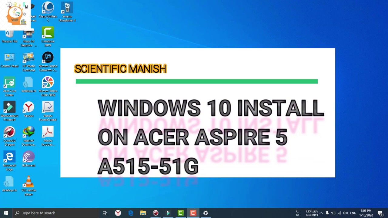 how to install windows 8 in acer laptop