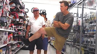 THE POOTER - Farting at Walmart - We got kicked out of the store!