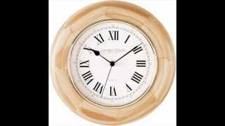 Pine Wood Wall Clock   28cm
