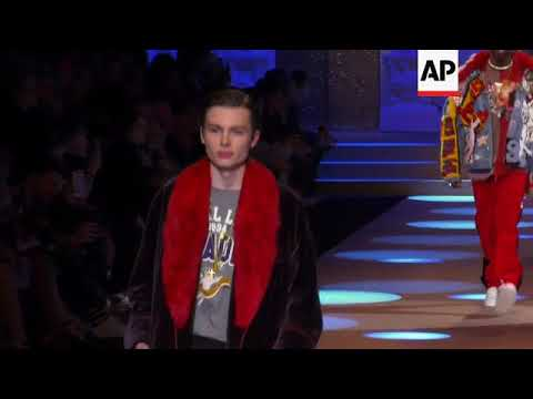 Celebrity sons on the catwalk for Dolce and Gabbana