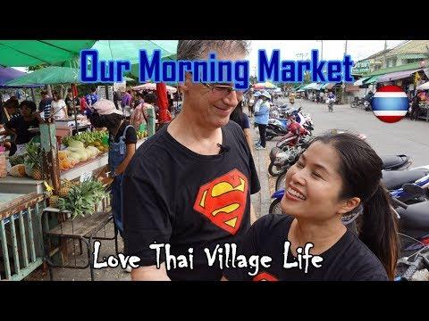 Village Morning Market Thailand Plus Mystery Giant Model Boat