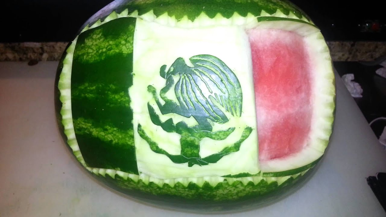 Arte en sandia bandera de mexico youtube - Pintura de baneras ...