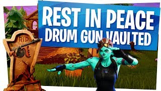 RIP DRUM GUN! - The KING of SPRAY has FALLEN! - First Look at the New Suppressed SCAR! - Fortnite