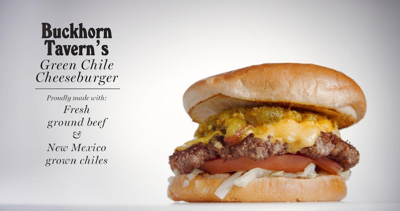 Buckhorn Tavern Green Chile Cheeseburger - YouTube