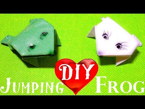 DIY Paper Jumping Frog Origami. How to make frog easy step by step