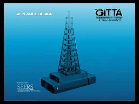 Ghana Information Technology & Telecom Awards Plaque