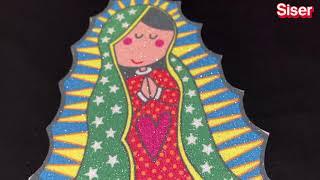 Virgen sublimada en Glitter blanco de Siser