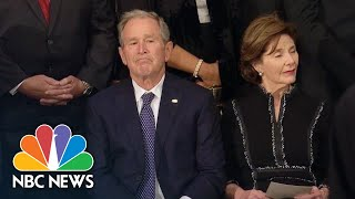 George W. Bush Becomes Emotional During Tribute To Father | NBC News