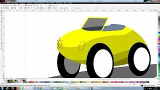 Corel draw- tutorial (vector cartoon car illustration)