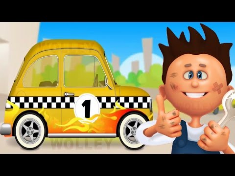 sports-car-wash-and-service-for-kids-|-police-car,-ambulance-&-taxi-|-mechanic-max-game-for-children