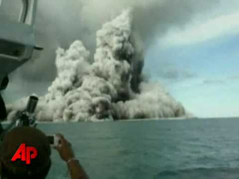 Undersea Volcano Erupts Near Tonga