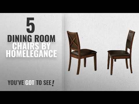Top 10 Homelegance Dining Room Chairs [2018]: Homelegance Verona Contemporary Dining Chairs with
