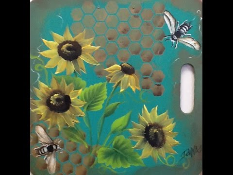 Lessons with Donna 2015-02 Sunflowers and Bees