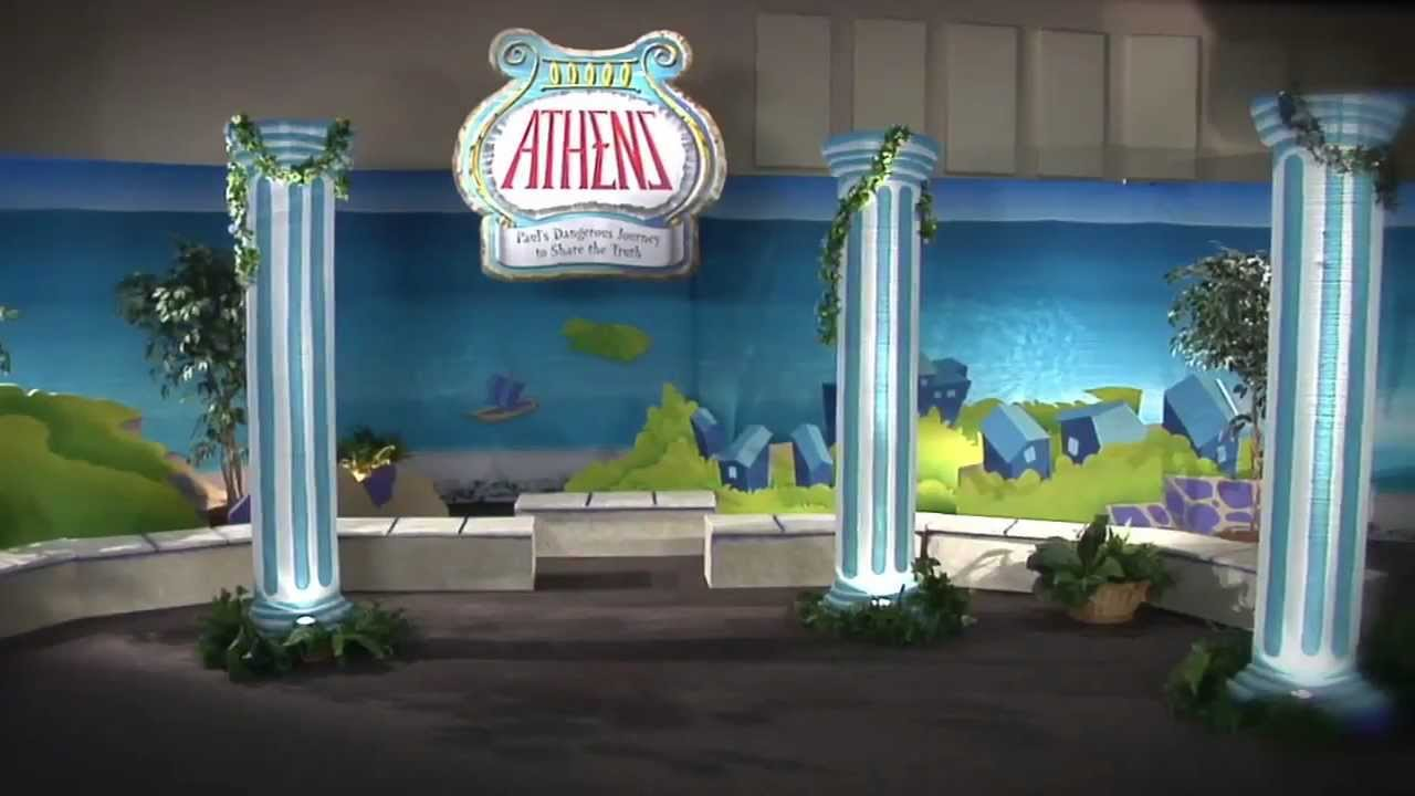 Athens VBS Columns Decorating | Vacation Bible School | 2013 Holy ...