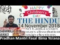 14 November 2018 The Hindu Newspaper Analysis in Hindi (हिंदी में) - News Current Affairs Today IQ