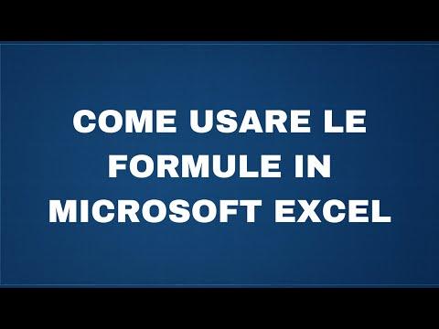 Come usare le formule in Microsoft Excel