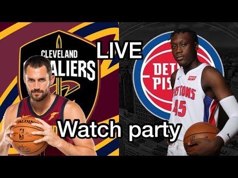 Cleveland Cavaliers VS The Detroit Pistons Live Watch Party
