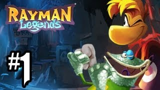 Rayman Legends Gameplay Walkthrough - Part 1 - INSANELY AMAZING!! (Wii U Rayman Legends Gameplay HD)
