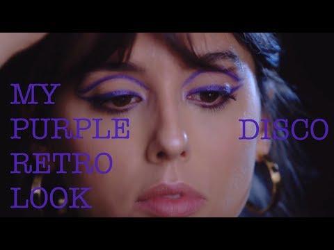 MY PURPLE DISCO RETRO LOOK