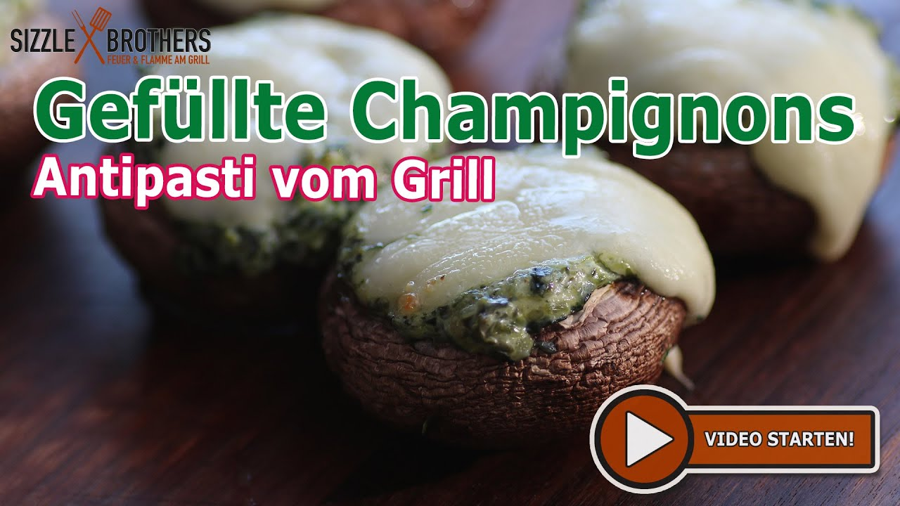 gef llte champignons antipasti vom grill vegetarisch grillen youtube. Black Bedroom Furniture Sets. Home Design Ideas