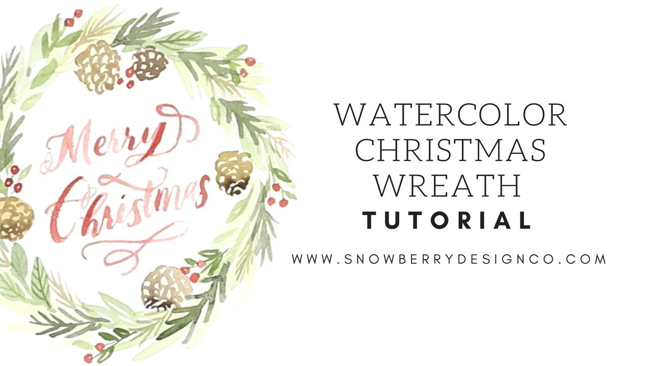 How To Paint A Watercolor Christmas Wreath Beginner Tutorial Youtube