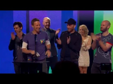 Coldplay receive the Godlike Genius Award at the NME Awards