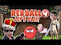 RED BALL 4 🔴 - LET'S PLAY - Rey & Dad KILL EVIL SQUARES! (Part 1)