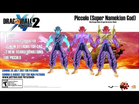 Dragon Ball Xenoverse 2 - Piccolo Super Namekian God (NEW FORM ...