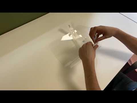Fabricación de las pantallas de protección facial de ENSA frente a la COVID-19