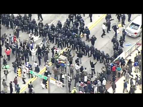 RAW FOOTAGE: Baltimore Freddie Gray protests