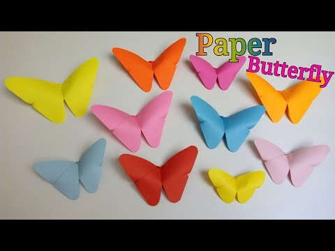 Paper Butterfly   How To Make Paper Butterfly   How To Make an Origami Butterfly   DIY Butterflies