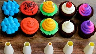 Five Cupcake Frosting Styles Using A Round Piping Tip - 5 Top Cupcakes