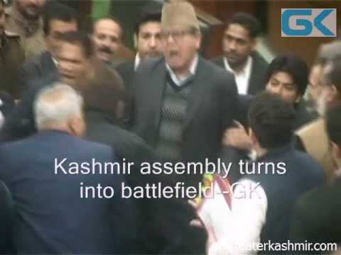 Kashmir assembly turns into battlefield