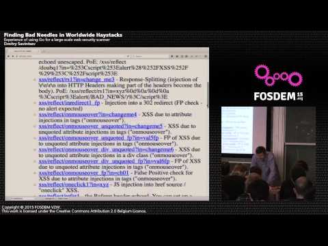 Finding Bad Needles in Worldwide Haystacks - Dmitry Savintsev - Go Devroom FOSDEM 2015