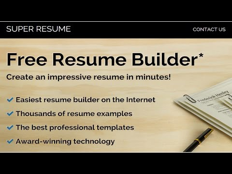 Best Free Online Resume Builders - YouTube - Best Free Online Resume Builder