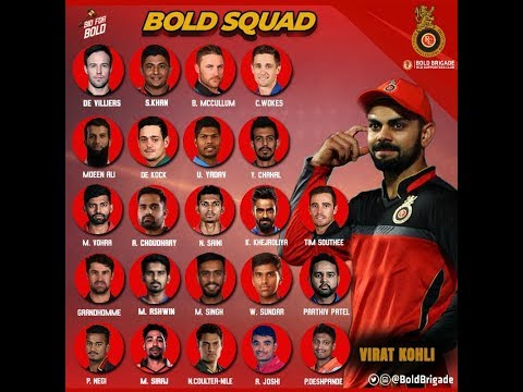 vivo ipl 2018 rcb team 2018 players list with new players earnings