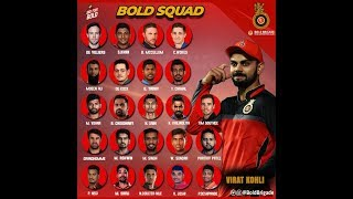 Vivo IPL 2018. RCB Team 2018 players list with new players earnings.