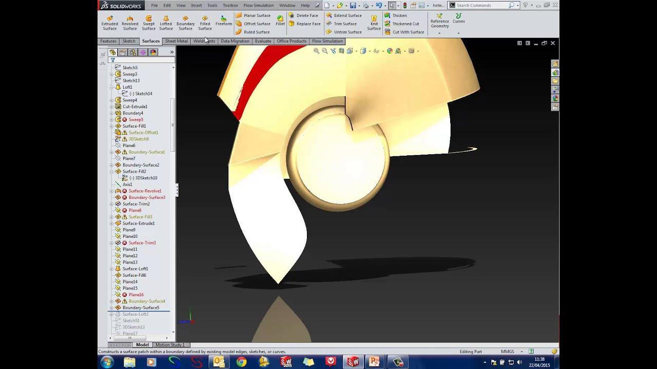 SOLIDWORKS Tutorial How to Model an IronMan Helmet