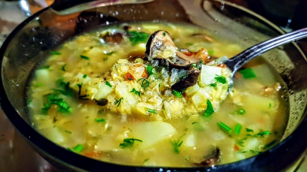 76bb7eaace29 Суп из чечевицы цыганка готовит. Чечевичный суп с грибами. Gipsy cuisine.