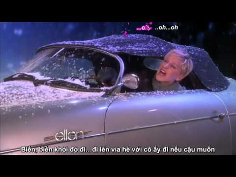 [Vietsub] Ellen Degeneres in Mistletoe Music Video by Justin Bieber