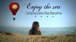 Camping globo rojo Barcelona -Beach